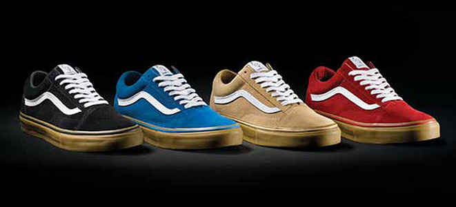vans old skool pro gum sole blue