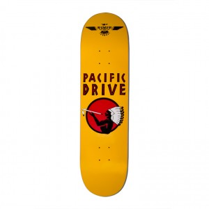 Pacific Drive Deck – Gold 8.25″